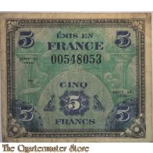 Invasion money 5 Francs 1944