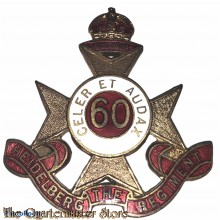 Cap badge 60th Inf Bat (The Heidelberg Regiment)