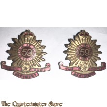 Collar badges 59th Inf Bat (The Hume Regiment)