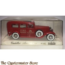 """Solido Cadillac Ambulance Fire Brigade Manhattan 4038 Age d""""Or Nice with Box"""