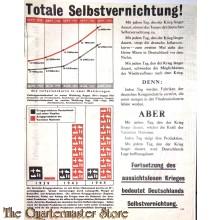 Flugblatt / Leaflet G.88, Totale Selbstvernichtung! (Total Self-destruction)