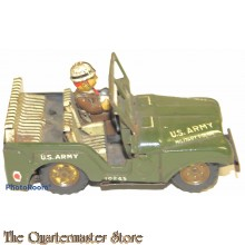 Metalen Military Police jeep 1960