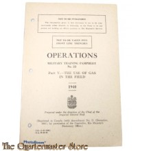 Pamphlet No 23 ,  Manual Operations use of Gas in the field ,  Canada 1940