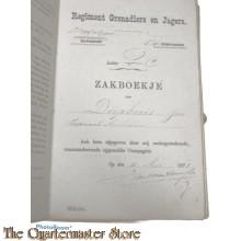 Oorlogszakboekje Grenadiers en Jagers 1e Batt 3e Comp