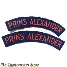 Straatnamen Regiment  Prins Alexander (gebogen)
