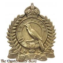 Cap badge New Zealand Women's Auxiliary Army Corps WW2