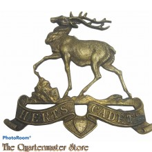 WWII Officers Cap badge Herts Cadets