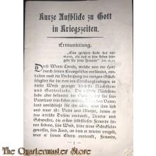 Brochure Kurze Aufblicke zu Gott in Kriegszeiten 1915