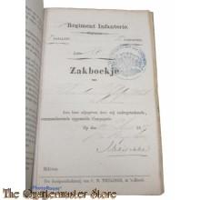 Oorlogszakboekje 1 Regiment Infanterie 3e Batt 2e Comp