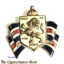 British War Relief Heraldic 1940s Book Piece Brooch