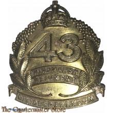 Cap badge 43rd Inf Bat (The Hindmarsh Regiment)