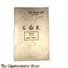 British army WW2 S.O. Book 136 1/2 (Gebruikt Ned Indie)