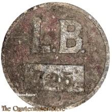 Trage abzeichen L.B. Auslander Arbeiter ReiMaGH (I.D. Badge forces laborer ReiMaHG  L.B.)