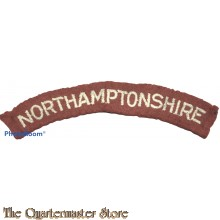 Shoulder flash Northamptonshire Regiment