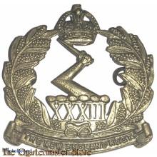 Cap badge 33rd Inf Bat (The New England Regiment) 1916-1943