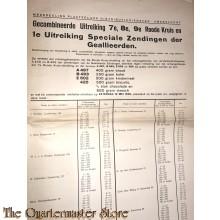 Poster , Distristributiedienst Amersfoort 1e Uitreiking Speciale Zendingen der Geallieerden 12 mei 1945