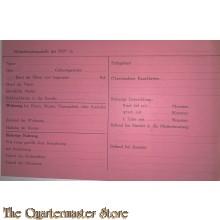 Formular Mutterberatungsstelle der NSV (Volkswohlfahrt) (Document Mutterberatungstelle NSV Volkswohlfahrt)