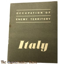 Booklet Occupation of enemy territory ITALY 1943