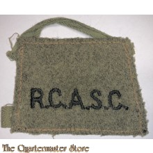 Shoulder title (Slip On) Royal Canadian Army Service Corps (R.C.A.S.C)