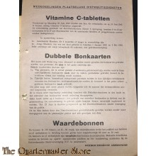 Medeelingen folder Plaatselijke Distributiediensten Amersfoort  25 juni 1945 Vitamine C