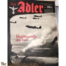 Zeitschrift Der Adler heft 15 22 juli 1941  (Magazine Der Adler No 15,  22 juli 1941)