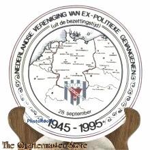 Wandbord Vereniging van (ex) politieke gevangenen 1945-1995 NVEPG