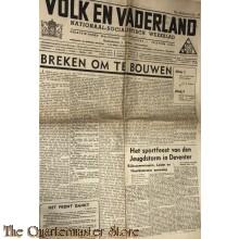 Krant NSB Volk en Vaderland 10e jrg no 33, 14 aug 1942