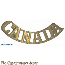 Shoulder title arched CANADA (brass)
