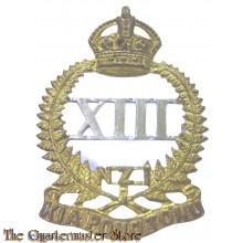 Cap badge 13th (North Canterbury and Westland)