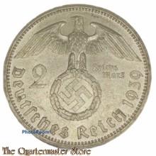 German 2 Reichs Mark Deutsches Reich 1939 (silver)