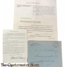 Keuringsrapport met bijlage en enveloppe BVL 1932 Zutphen