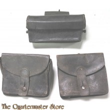 Set pouches M1888 Rifle Ammunition and earlier ammo pouch for on back French Army