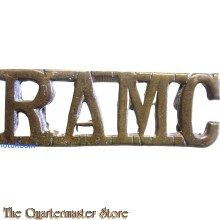 Shoulder title Royal Army Medical Corps R.A.M.C. (brass)