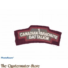 Shoulder title 1st CANADIAN PARACHUTE BATTALION (replica)
