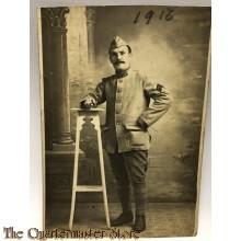 Studio portret soldier belgium 1916