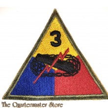 Mouwembleem 3e Armored Divison (Sleevebadge 3rd Armored Division)