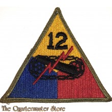 Mouwembleem 12e Armored Division (Sleevebadge 12th Armored Division)