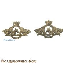 Collar badges Prinses Louise Dragoon Guards