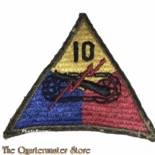 Mouwembleem 10th Armored Division (Sleevebadge 10th Armored Division).