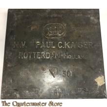 Koek of biscuit blik Paul C Kaiser Rotterdam 1938