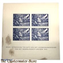 Blok van 4 legioenzegels 12 1/2 cent (toeslag 87 1/2 cent)