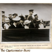 Press photo , WW1 Western front , Royal family visiting military Sports Festival at Aldershot