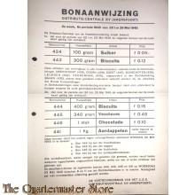 Bonaanwijzing Distributie-centrale XIV (Amersfoort)  2e week, 6e periode 1945 20 t/m 26 mei