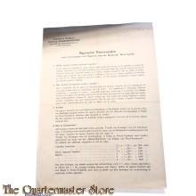 Algemene voorwaarden; Voor het leveren van sigaren aan de Wehrmacht 1940