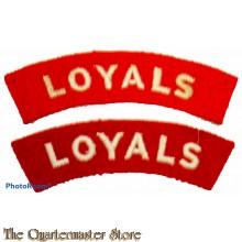 Shoulder  flashes Loyal Regiment (North Lancashire)