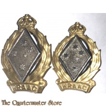 Collar badges Royal Australian Army Corps (WRAAC) 1951