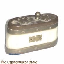 Decoratieve (jagers) snuifdoos 1920 (1920s  hunters snuff box)