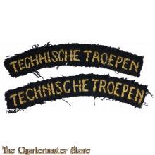 Naam linten Technische troepen (gebogen)