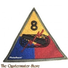 Mouwembleem 8e Armored Divison (Sleevebadge 8th Armored Division)