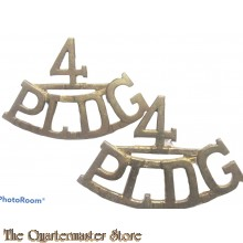Shoulder titles 4th Princess Louise Dragoon Guards (brass)